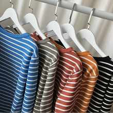 Load image into Gallery viewer, COLORFUL STRIPED FULL SLEEVES T-SHIRT - DIFTAS - Do It For The Aesthetics