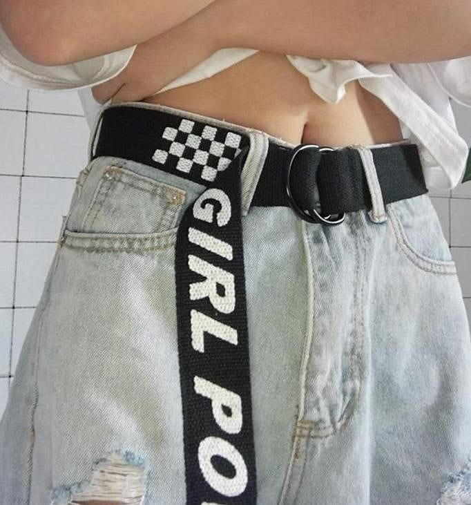 GIRL POWER CHECKERBOARD BELT - DIFTAS - Do It For The Aesthetics