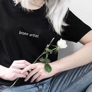 BROKE ARTIST T-SHIRT - DIFTAS - Do It For The Aesthetics