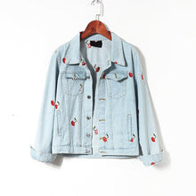 Load image into Gallery viewer, CHERRY DENIM JACKET - DIFTAS - Do It For The Aesthetics