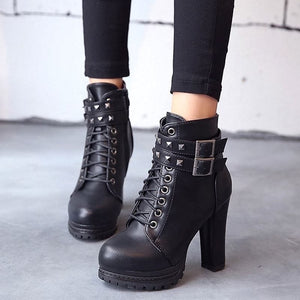 SLIM GOTHIC HIGH BOOTS - DIFTAS - Do It For The Aesthetics