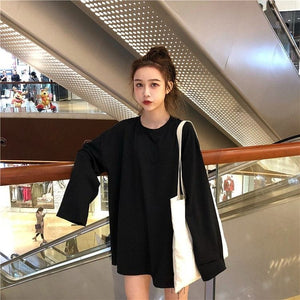HARAJUKU PLAIN FULL-SLEEVES TEE - Diftas