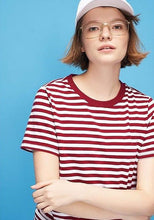 Load image into Gallery viewer, KAWAII COLORFUL STRIPED T-SHIRTS - DIFTAS - Do It For The Aesthetics