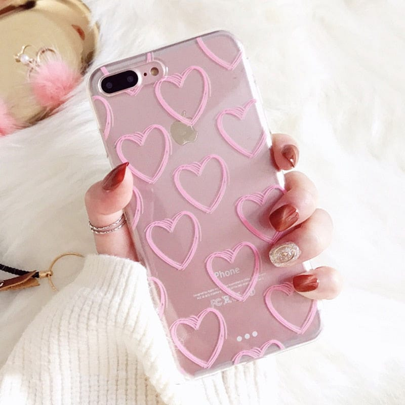 PINK HEART PHONE CASE - DIFTAS - Do It For The Aesthetics