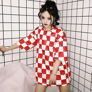 CHECKERBOARD T-SHIRT - DIFTAS - Do It For The Aesthetics