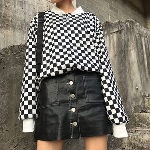 CHECKERBOARD SWEATSHIRT - DIFTAS - Do It For The Aesthetics