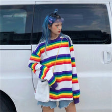 Load image into Gallery viewer, RAINBOW KAWAII FULL-SLEEVES TEE - DIFTAS - Do It For The Aesthetics