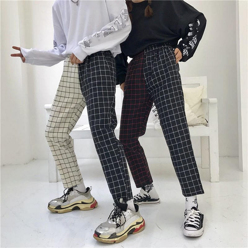 DOUBLE CHECKERED TROUSER - DIFTAS - Do It For The Aesthetics