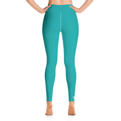 WAY Up Teal Yoga Leggings