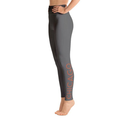 105F Chicago Grey High Waist Yoga Leggings