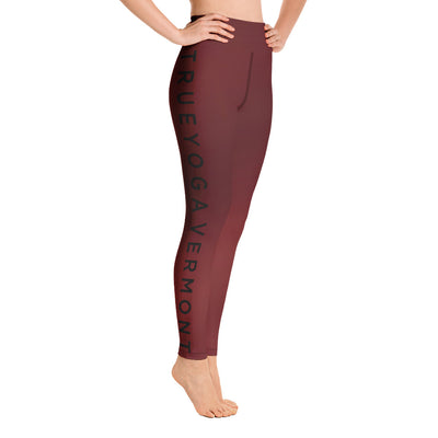 True Yoga Vermont-Leggings DTL Red