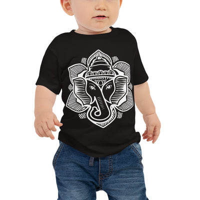 Elephant Lotus Short Sleeve Infant Tee