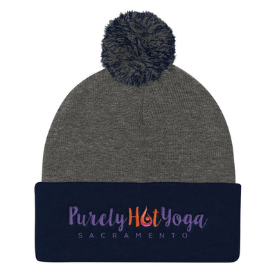Purely Hot Yoga-Pom Pom Knit Cap