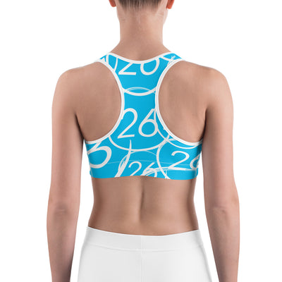 Turbo26-Sports Bra Blue 26