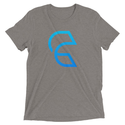 Clear-Short sleeve tri-blend t-shirt