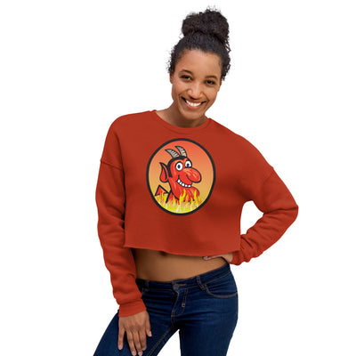 Yoga Hell Devil-Crop Sweatshirt