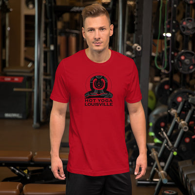 Hot Yoga Louisville Black Logo Short-Sleeve Men's T-Shirt