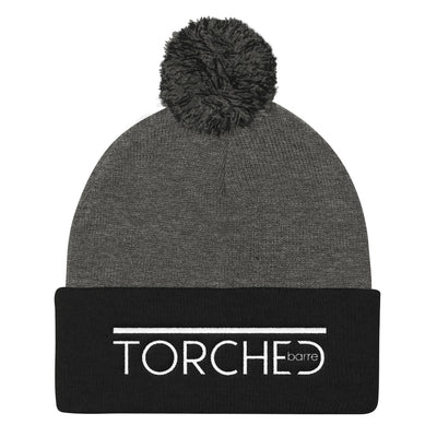TORCHED BARRE-Pom Pom Knit Cap