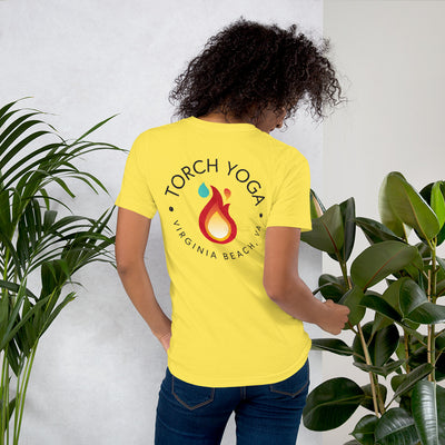 Torch Yoga VA Unisex Short Sleeve Jersey T-Shirt with Tear Away Label