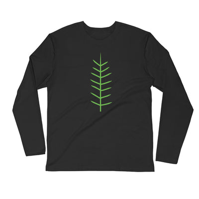 Yoga East Austin GREEN TREE-(Smaller Logo)Long Sleeve Fitted Crew