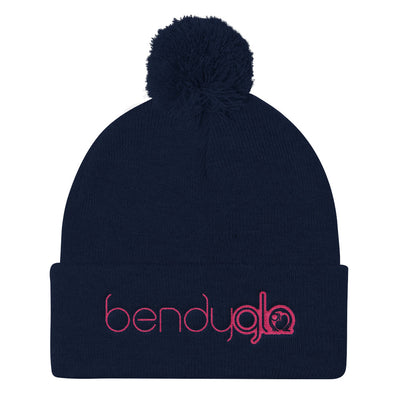 Bendy Glo-Pom Pom Knit Cap