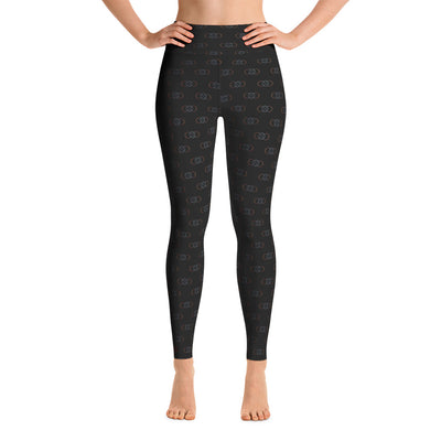 105F Infinity Black High Waist Yoga Leggings