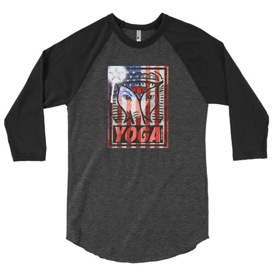 WAY USA STAMP-3/4 sleeve raglan shirt