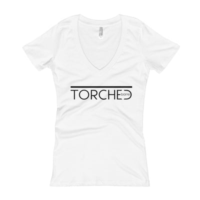 TORCHED BARRE-Women's V-Neck T-shirt