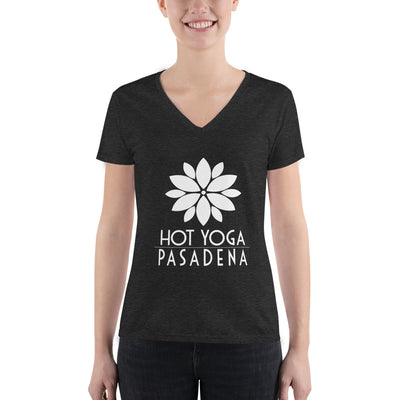 Hot Yoga Pasadena-Women's Fashion Deep V-neck Tee