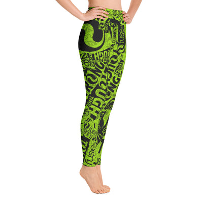 Fuse45-Allover Leggings Green&Black