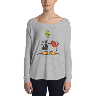 The Hot Yoga Factory-Ladies' Long Sleeve Tee Beans