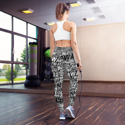 AWARE Black and White Leggings
