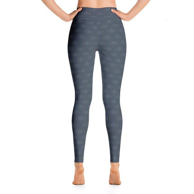 105F Infinity Blue High Waist Yoga Leggings