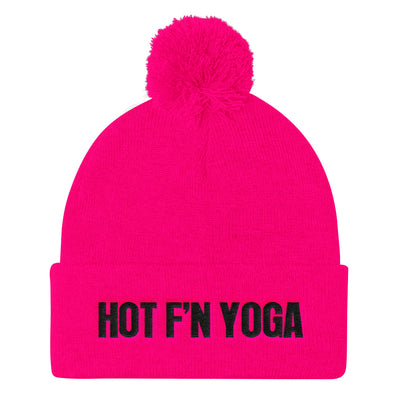 Hot f'n Yoga-Pom Pom Knit Cap