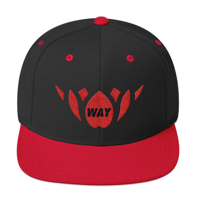 Red & Black-Snapback Hat