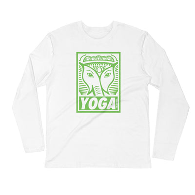 GREEN STAMP-Long Sleeve Fitted Crew
