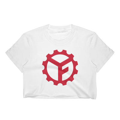 Yoga Factory Red Logo Crop Top