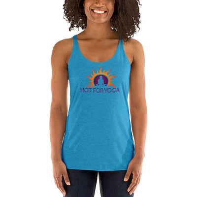Hot For Yoga-Women's Racerback Tank
