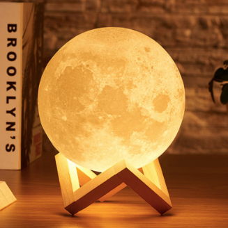 3D LED Moon Light Touch Switch
