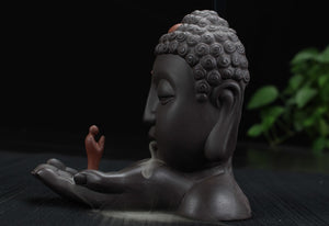 Buddha and Buddhist Incense Burner (10 Free Incense Cones)