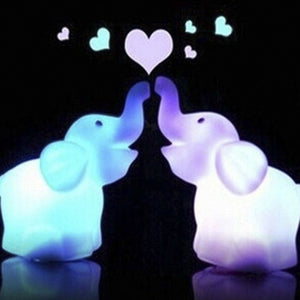 Color Changing LED Elephant Night Light