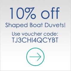 10% off Shaped Boat Duvets