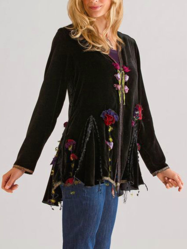Casual Long Sleeve Plus Size Tops