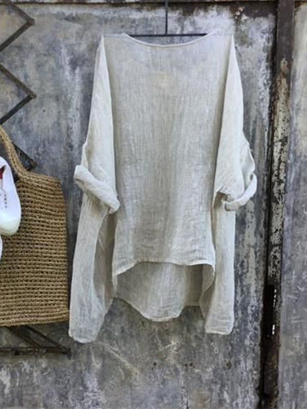 Casual Cotton Solid Shirts & Tops