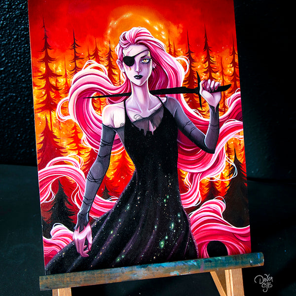 A Single Ember ☾ Original Painting