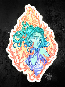 Burning Leaves ☾ Vinyl Sticker