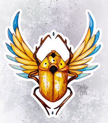 Scarab ☾ Vinyl Sticker
