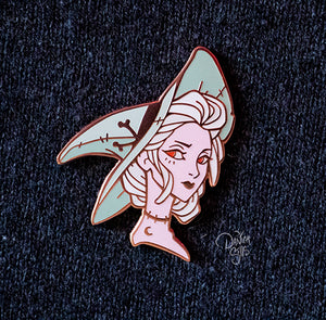 Spring Witch ☾ Hard Enamel Pin