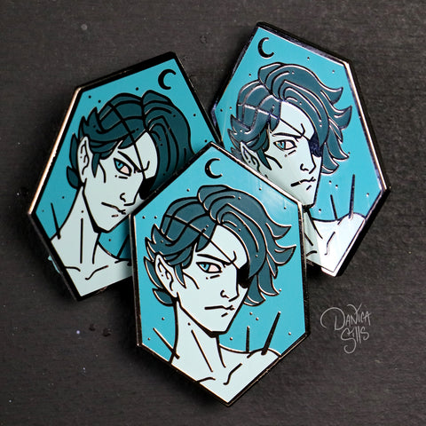 Blue Night ☾ Hard Enamel Pin