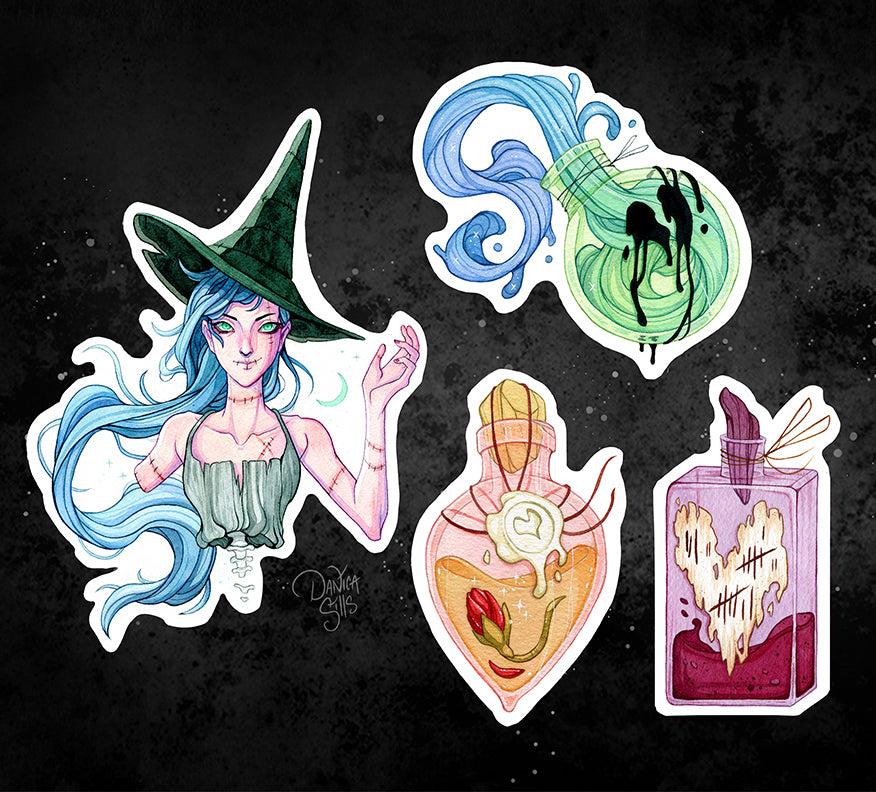 Undead Spells Sticker Set